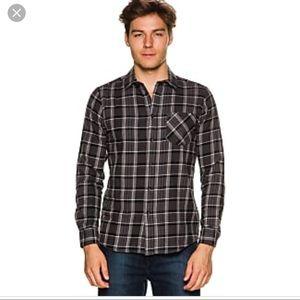 Volcom Shirts - 🦄 Volcome Gaines LS shirt plaid black NWT XL